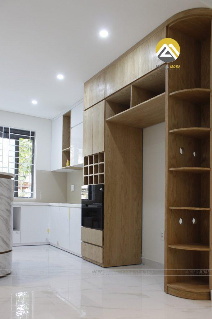 Thiết Kế Thi Công Nội Thất Gỗ Phòng Khách Và Bếp