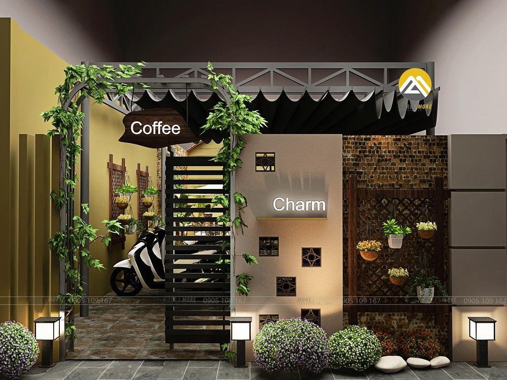 Thiết Kế Nội Thất Quán Cafe - Bãi Đỗ Xe