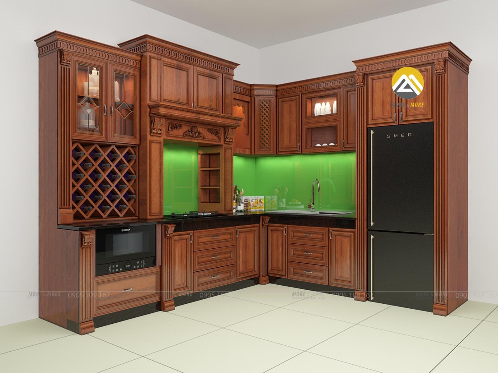 Tủ Bếp Gỗ Cổ Điển