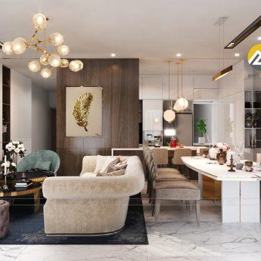 Thiết kế nội thất phòng Khách Căn Hộ CII