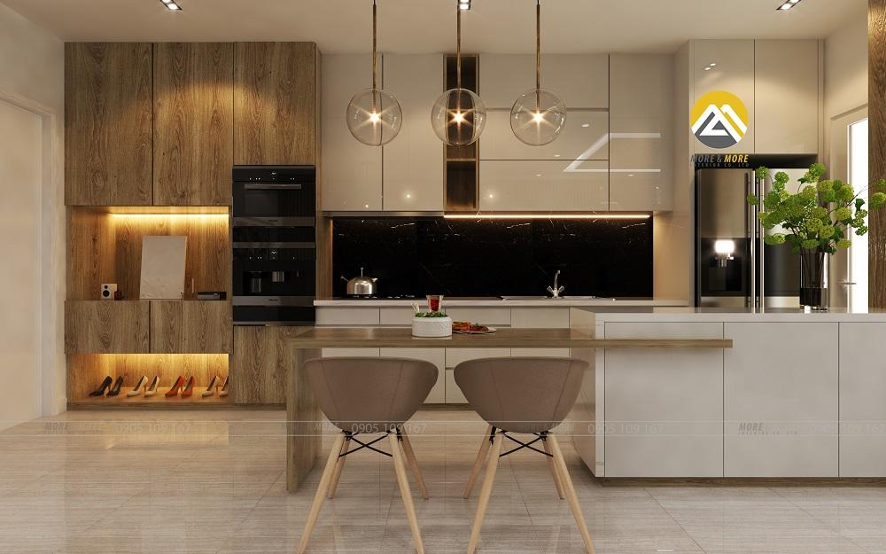 Tủ bếp gỗ công nghiệp More&More