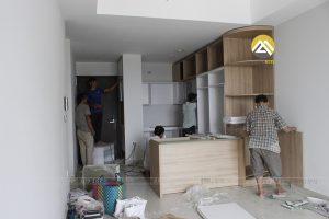 Lắp Đặt Tủ Bếp Gỗ Công Nghiệp MDF