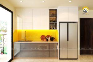 Tủ Bếp MDF Chống Ẩm Phủ Acrylic