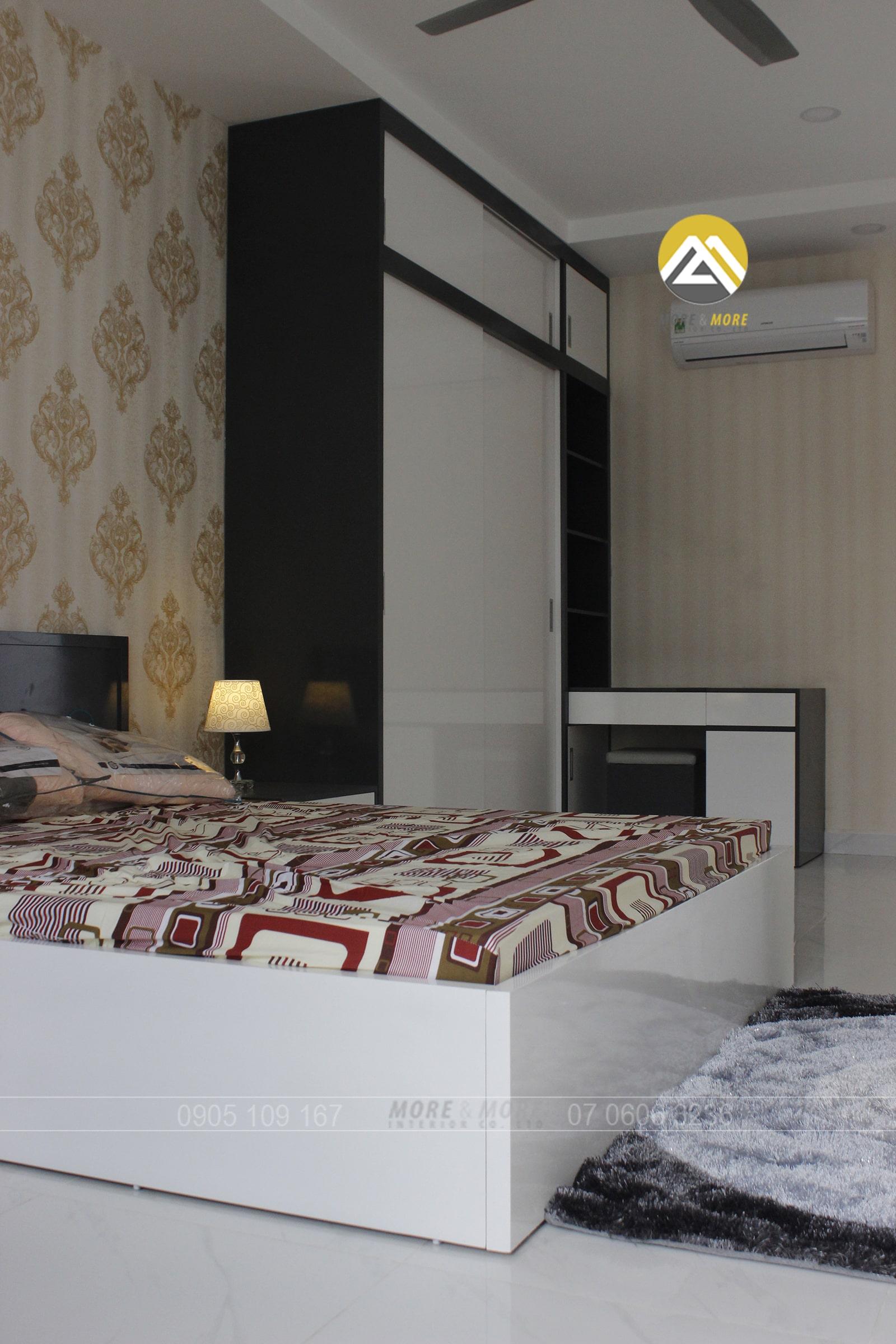 Giường Ngủ MDF Phủ Sơn 2k