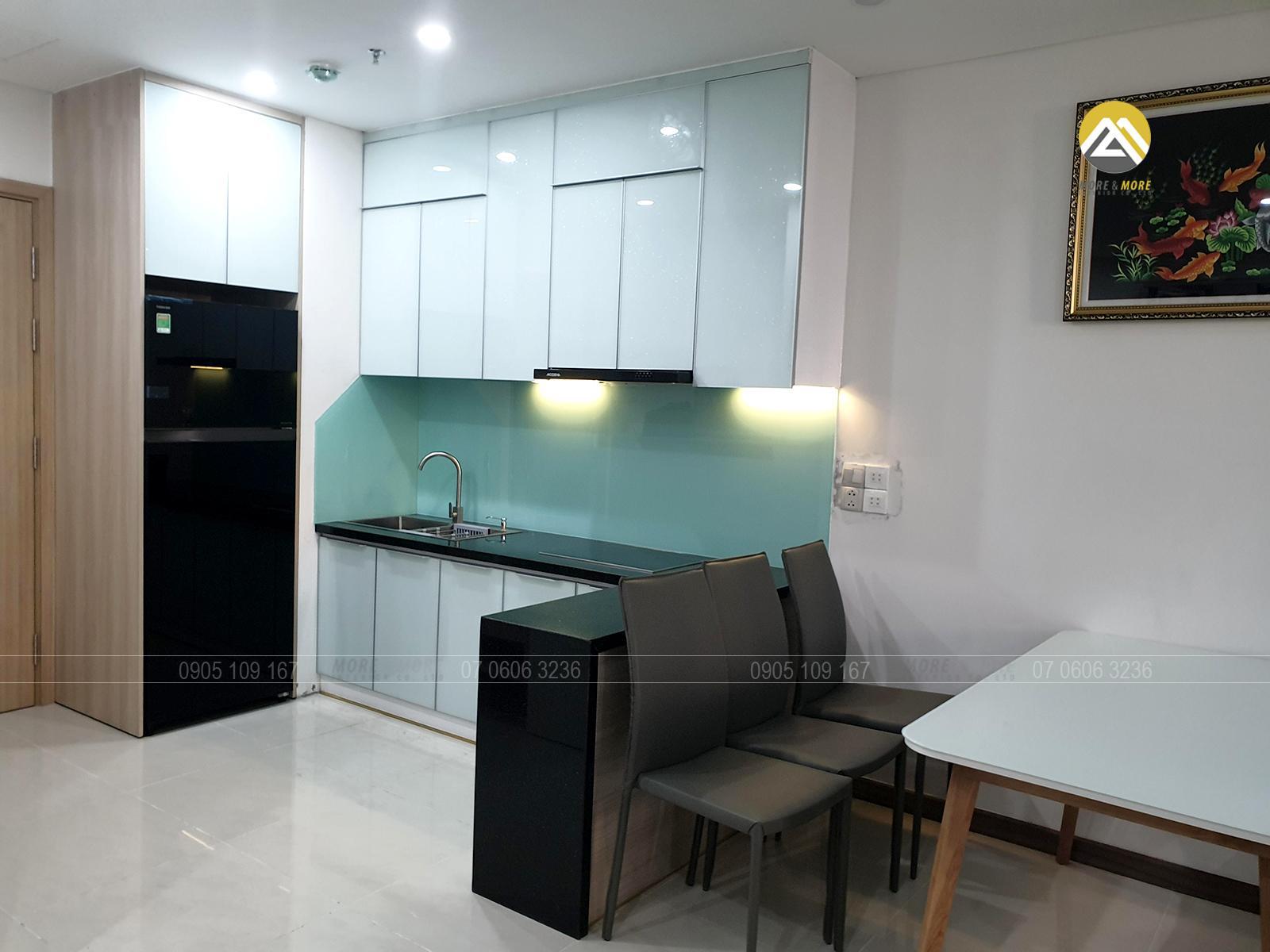 Nội thất bếp tại căn hộ Hà Đô quận 10