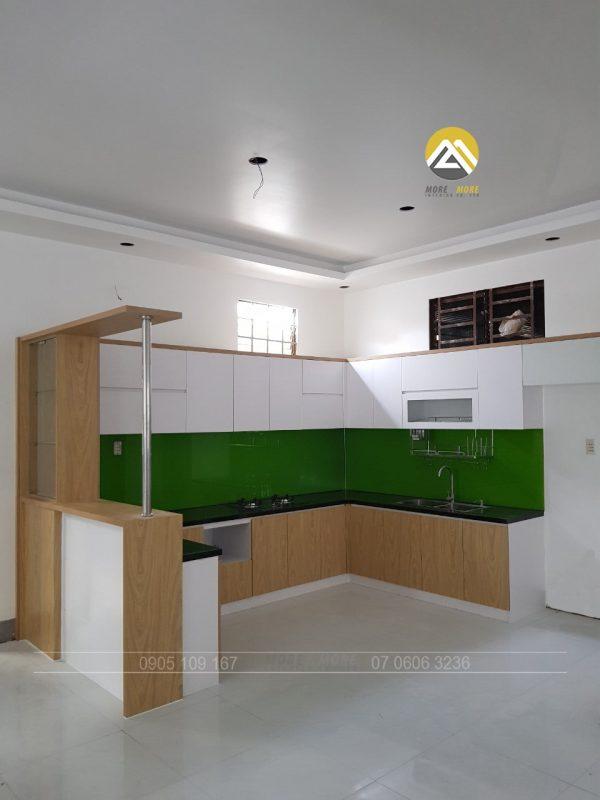 Tủ bếp MDF chống ẩm Phủ Melamine