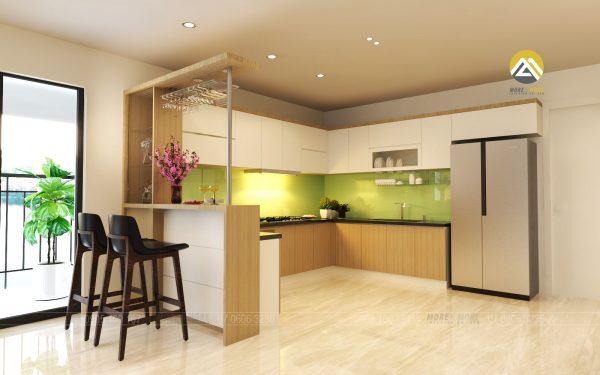 Tủ bếp MDF chống ẩm Phủ Melamine sang trọng