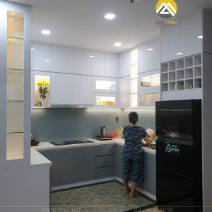 Tủ bếp MDF Lõi Xanh Phủ Acrylic