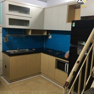 Tủ bếp MDF Lõi Xanh Chống Ẩm Phủ Melamine Tại Nhà Bè