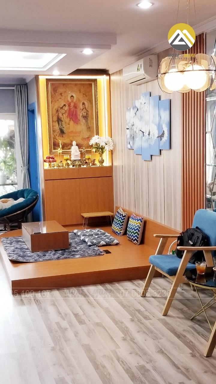 Decor lại phòng khách căn hộ gọn gàng hiện đại hơn