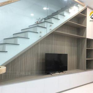 Tủ chân cầu thang MDF phủ Melamine