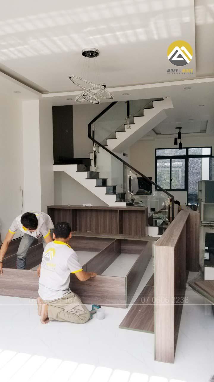 Thi Công Tủ Trang Trí, Tủ Rượu MDF Phủ Melamine Tại An Lạc, Bình Tân