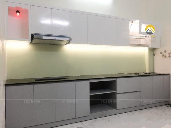 Tủ Bếp MDF Lõi Xanh Chống Ẩm Phủ Melamine Tại Bình Thạnh
