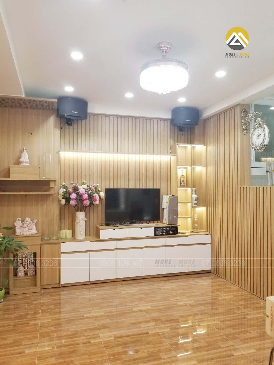 Tủ Tivi MDF Phủ Melamine Tại Tân Bình