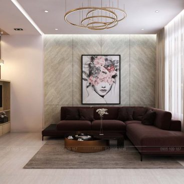 Thiết kế nội thất phòng khách, bếp biệt thự Lakeview Quận 2