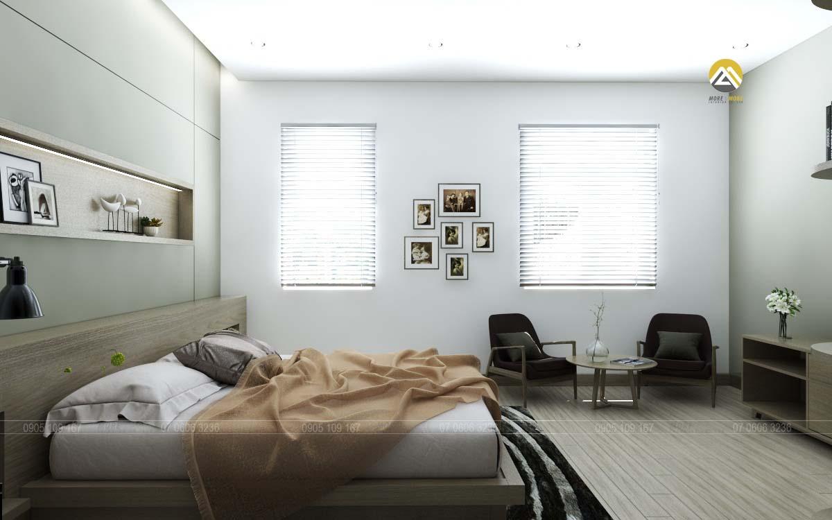 Thiết kế nội thất phòng ngủ biệt thự Lakeview Quận 2