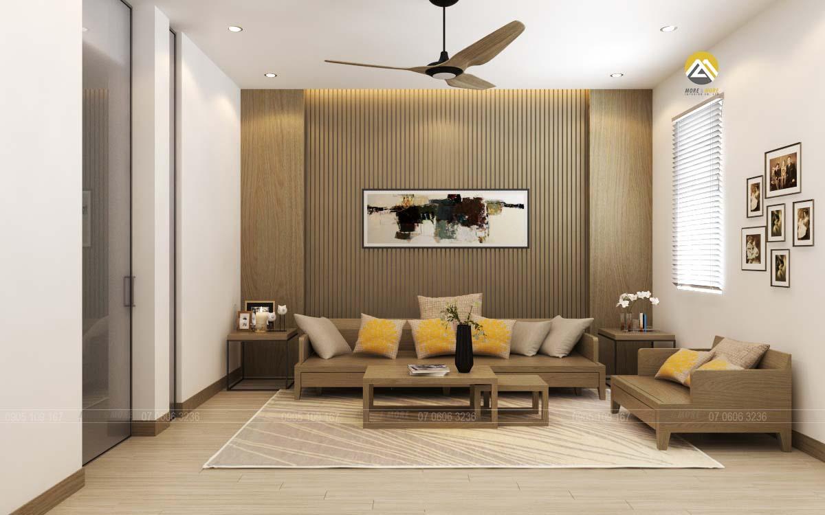 Thiết kế nội thất phòng sinh hoạt chung biệt thự Lakeview Quận 2