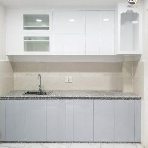 Tủ Bếp Full Trần MDF Lõi Xanh Phủ Acrylic Tại Quận 3, HCM